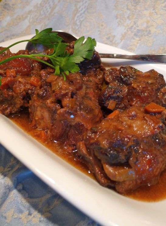 Oxtails Are Browned And Therefore Giving A Really Nice Flavor And Then They Go Into The Oven For A Long Slow Roast That Makes Them Perfectly Tender Juicy